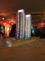 Scale model of the twin towers at Clapham Junction 2