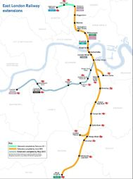 East London Line Extension - map