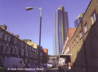 Twin towers from severus road