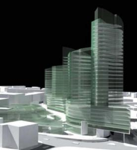 Clapham Junction redevelopment - Initial proposal with 3 towers